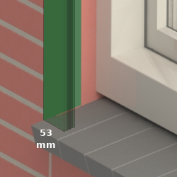In de dag montage (LHTF53)<br> tussen de muren
